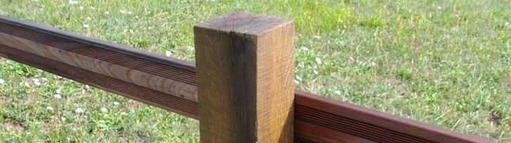 Poteau en bois pour la fabrication de barriere en bois - Petite barriere de jardin en bois ...