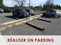 Réaliser un parking en traverses de chemin de fer